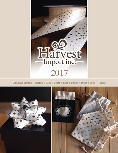 Packaging Decor, 2017 Online Catalog | Wholesale Supplier of Gift Packaging, Ribbons, Bags, Boxes, Lace, Burlap, Twine, Totes, and Tassels
